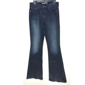 Big Star Bella Dark Wash High Rise Flare Jeans